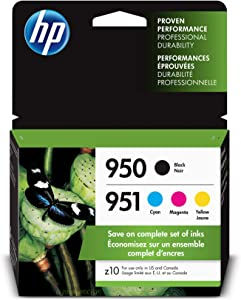 HP 950 & 951 | 4 Ink Cartridges | Black, Cyan, Magenta, Yellow | CN049AN, CN050AN, CN051AN, CN052AN