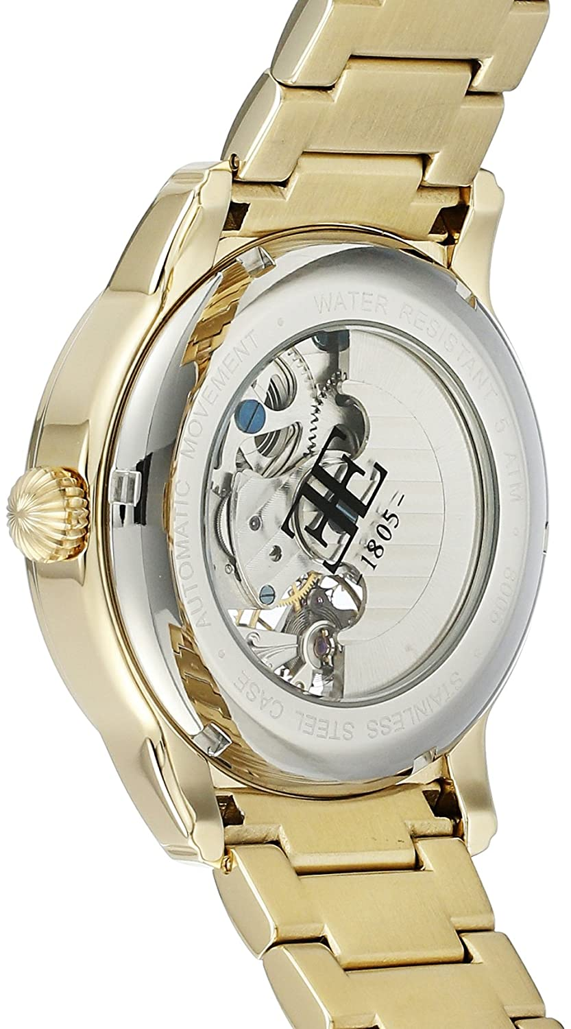 Thomas Earnshaw Men s ES-8006-22 Longitude Analog-Display Automatic Self-Wind Gold-Tone Watch