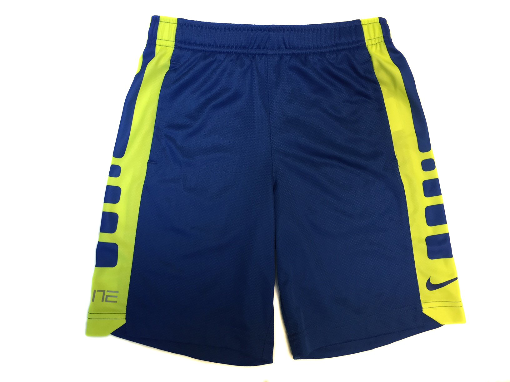 NIKE Little Boy's Elite Striped Short (7 Little Kids, Voltage/Game Royal) by NIKE