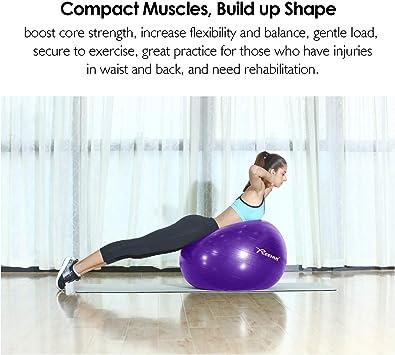 REEHUT Pelota de Ejercicio Anti-Burst para Yoga, Equilibrio ...