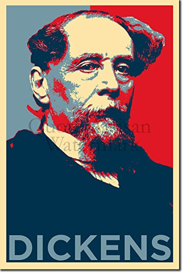 CHARLES DICKENS MODERN CANVAS PRINT POP ART READY TO HANG