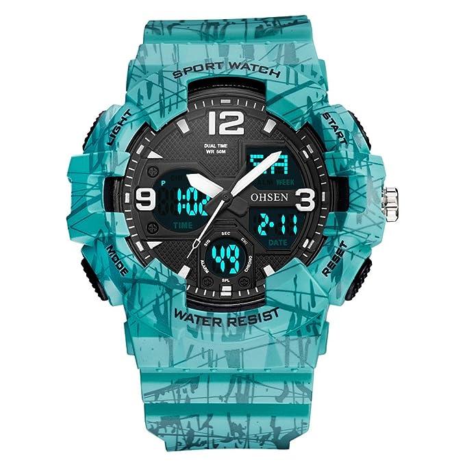 Sports Watches Relojes de Hombre Reloj electrónico de Silicona ...