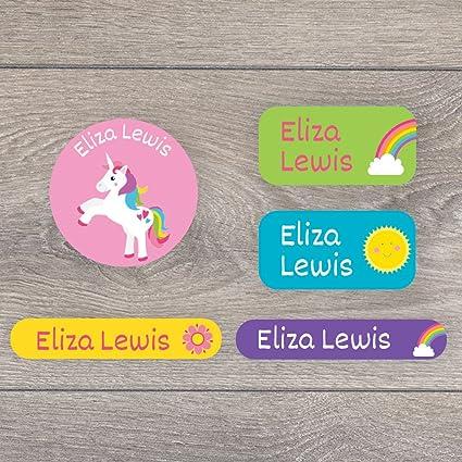 128 Unicorn hierro en etiquetas de nombre para niños - perfecto ...