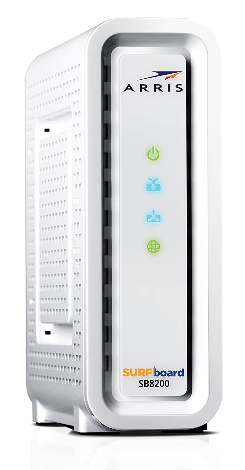 ARRIS Surfboard Gigabit Docsis 3 1 Cable Modem, 10 Gbps Max Speed, Approved  for Cox, and Xfinity  (SB8200)