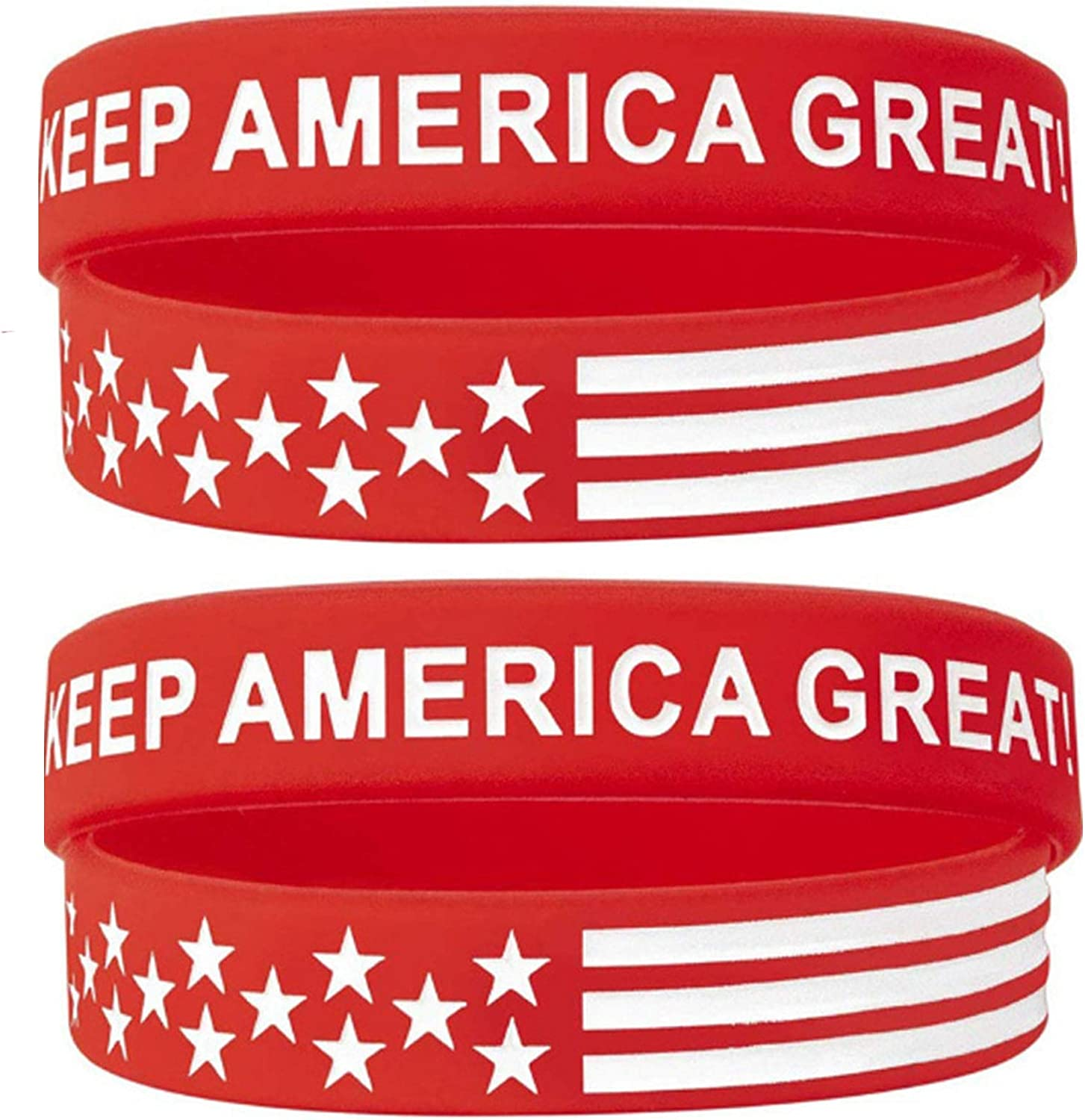 Support Awareness Trump 2020 Personalized Customizable Rubber Bracelets Women Premium Customized for Motivation Men Custom Luxe Silicone Wristbands Red Fundraisers Gifts Business Events