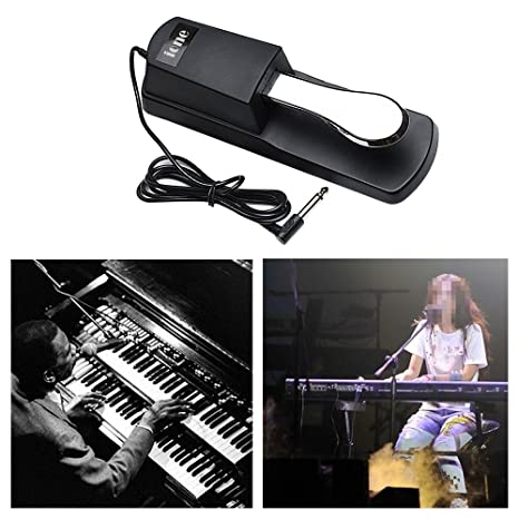 Houkiper Piano Sustain Pedal Teclado Sustain Pedal Amortiguador de Piano para Yamaha Casio Korg Roland Behringer