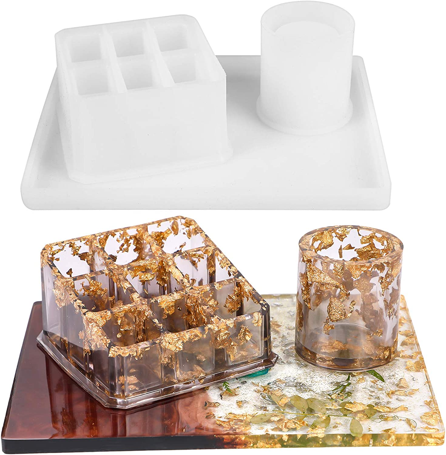 Resin Lipstick Storage Case Silicone Box Molds Hand Made Tools Casting Mould