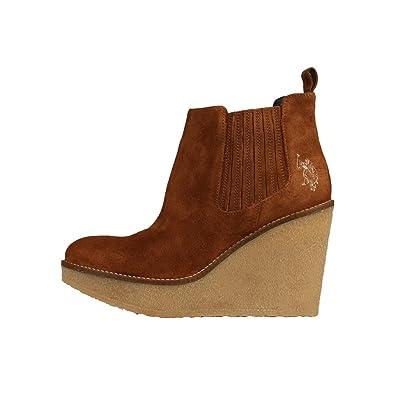 U.S. Polo - Botas de Piel para Mujer Marrón marrón Claro 41 ...