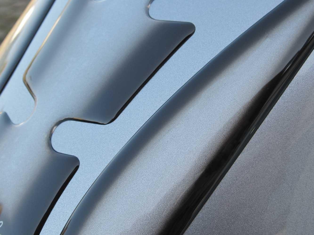 Tankpad 3D 501302 Transparent mit Schwarzverlauf Tank-Schutz f/ür Motorrad-Tank