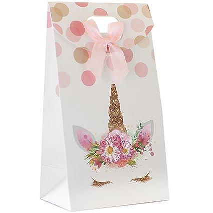 Amazon.com: Bolsas de regalo de unicornio premium, bolsas de ...