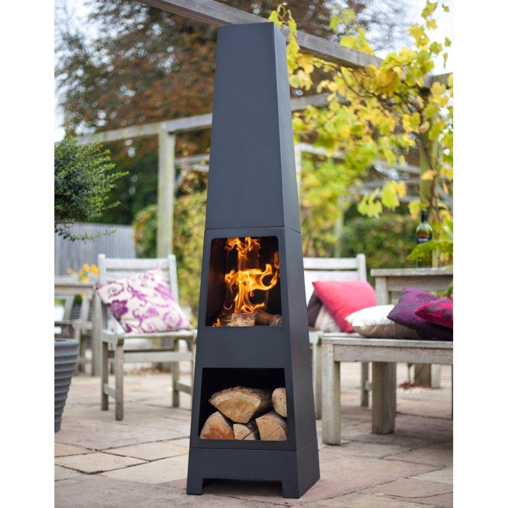 La Hacienda Malmo Steel Chimenea Log Store   Black (Patio Heater):  Amazon.co.uk: Garden U0026 Outdoors