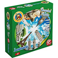 Fluffy Bear RP-5007 Landmarks Shaped Round Puzzle - 250 Pieces