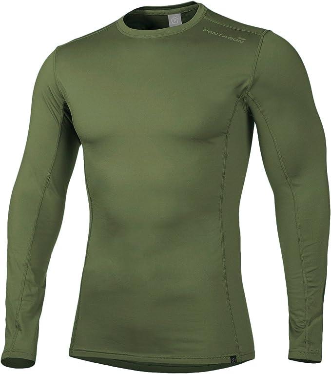 PENTAGON Hombres Pindos 2.0 Termal Camisa Oliva: Amazon.es: Ropa y accesorios