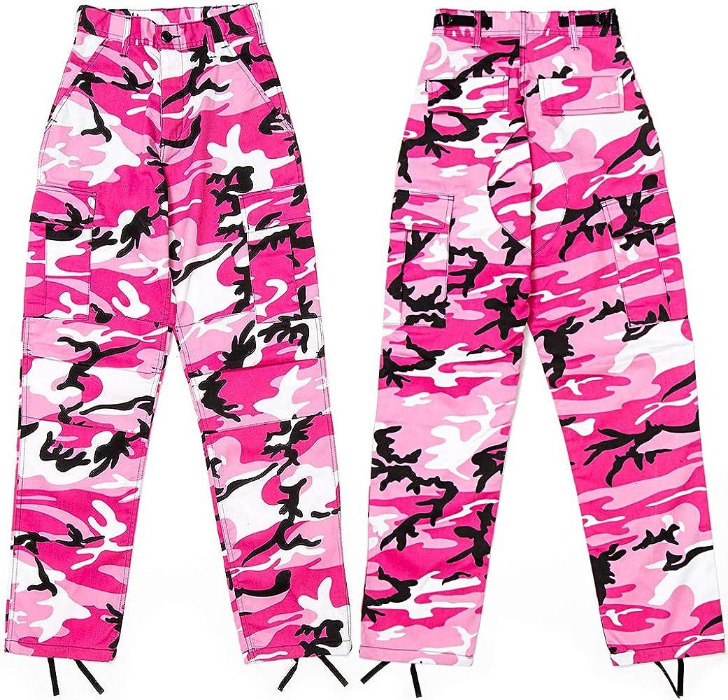 Amazon Com Hombres Rosa Camuflaje Militar Bdu Pantalones Cargo Fatigues Moda Pantalones Camo Fondos Moderno Equipada S Clothing