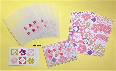 Japonés de Sakura de cerezo Patrón Mini pequeñas tarjetas de ...