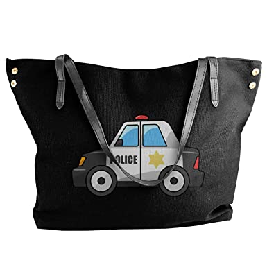 76fc7ab5bb96 Amazon.com  Women s Canvas Police Car Casual Hobo Canvas Daily Purse ...
