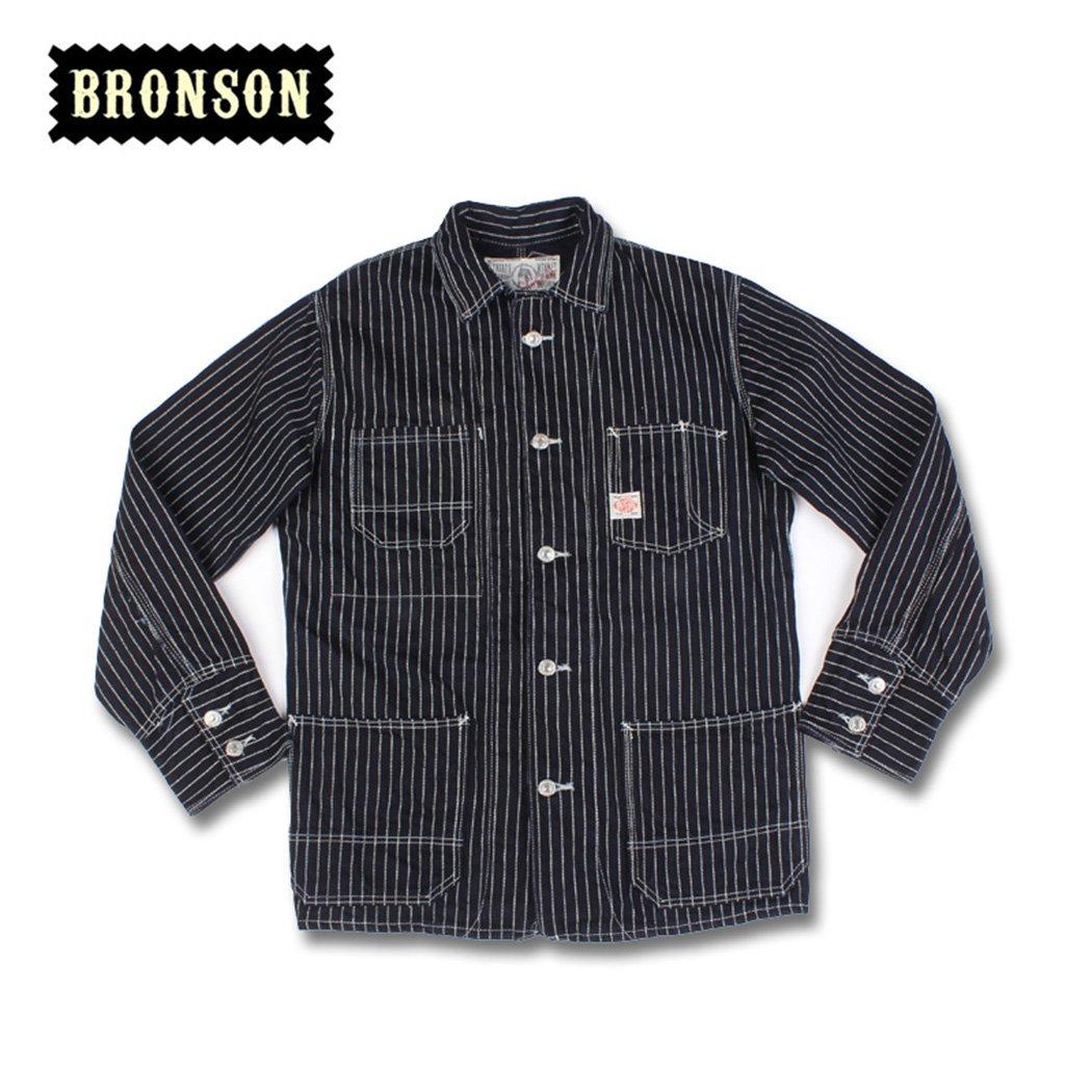 Bronson 1900Sウォバッシュインディゴストライプレールオーバイヤーワークウェアジャケット B075DJ24Q7 M/38