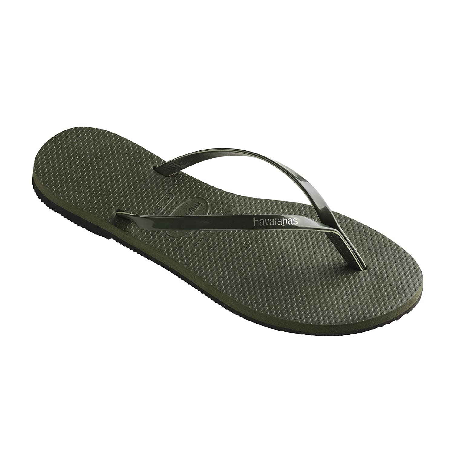 Havaianas You Metallic Olive Green Flip Flops: Amazon.co.uk: Shoes & Bags