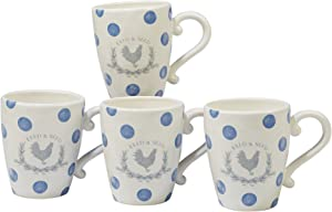 Certified International Corp Urban Farmhouse 22 oz. Mugs, Assorted Designs, Set of 4, Multicolor
