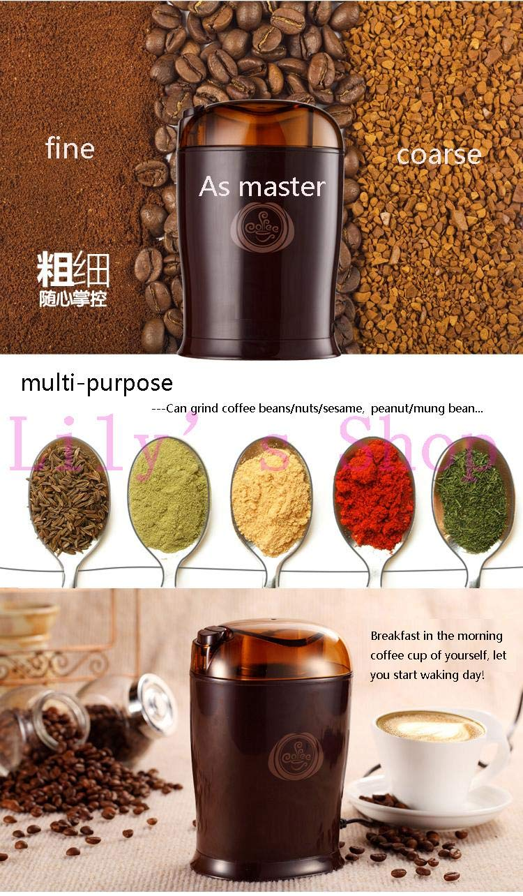 JIQI Household Electric Coffee Grinders Herbs Bean MINI Grain Shredder Mill Grinding Powder Machine Pulverizer