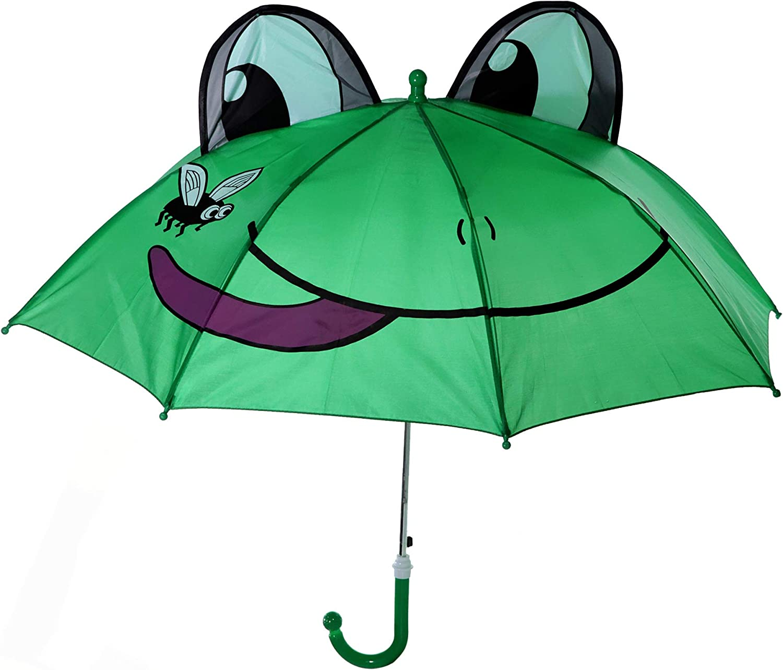 Childrens Polyester Frog Umbrella 28.34 x 27.55