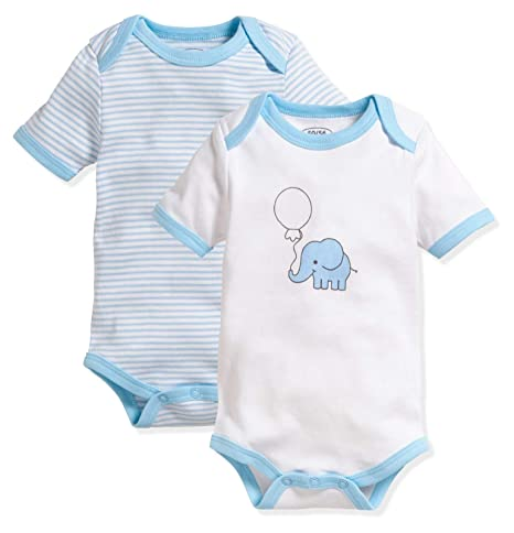 Schnizler Unisex Baby Body Kurzarm 2er Pack Wal