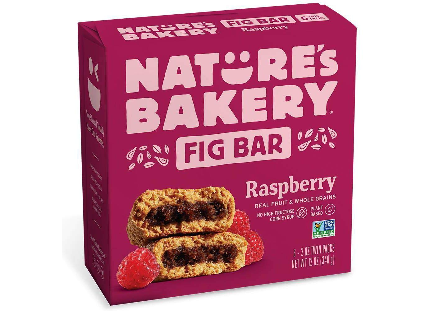 Nature's Bakery Raspberry Real Fruit, Whole Grain Fig Bar - 6 ct. (12 oz.) by Nature's Bakery FB