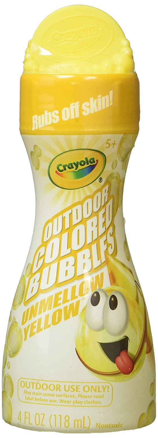 Crayola Outdoor Colored Bubbles Unmellow Yellow 4 fl oz