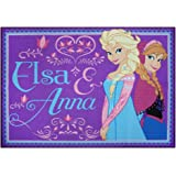"Disney Frozen Rug 2016 Edition Anna and Elsa Bedding Girls Wall Decals Throw Area Rugs, 40"" x 54"", Purple"