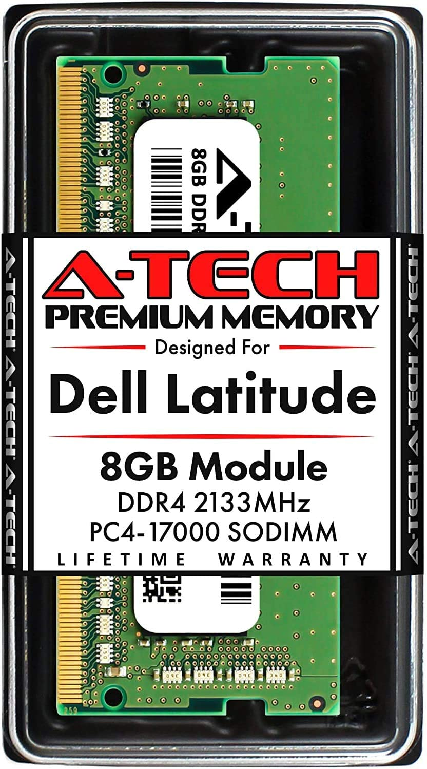A-Tech 8GB RAM for Dell Latitude E7470, E7270, E5570, E5470, E5270 | DDR4 2133MHz SODIMM PC4-17000 Laptop Memory Upgrade Module
