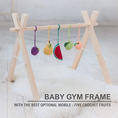 Amazon nursery furniture wooden baby gym frame wood baby