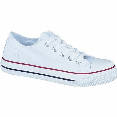 modische Mädchen Canvas Sneakers white, 3336198/29 Canadian
