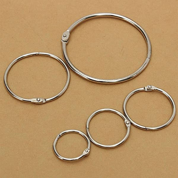 10x Hinged Rings for Scrapbooks Albums 58mm
