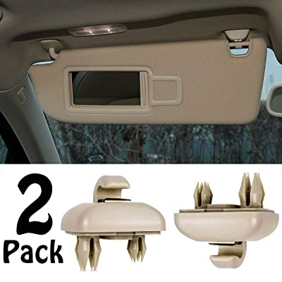 PorporBooya 2-Pack Interior Sun Visor Hook Clip Bracket for A1 A3 A4 A5 Q3 Q5(8E0 857 562) (Beige): Automotive