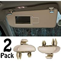 Porpor Booya 2 unidades de ganchos para visera interior para Audi A1 A3 A4 A5 Q3 Q5 (8E0 857 562), Beige