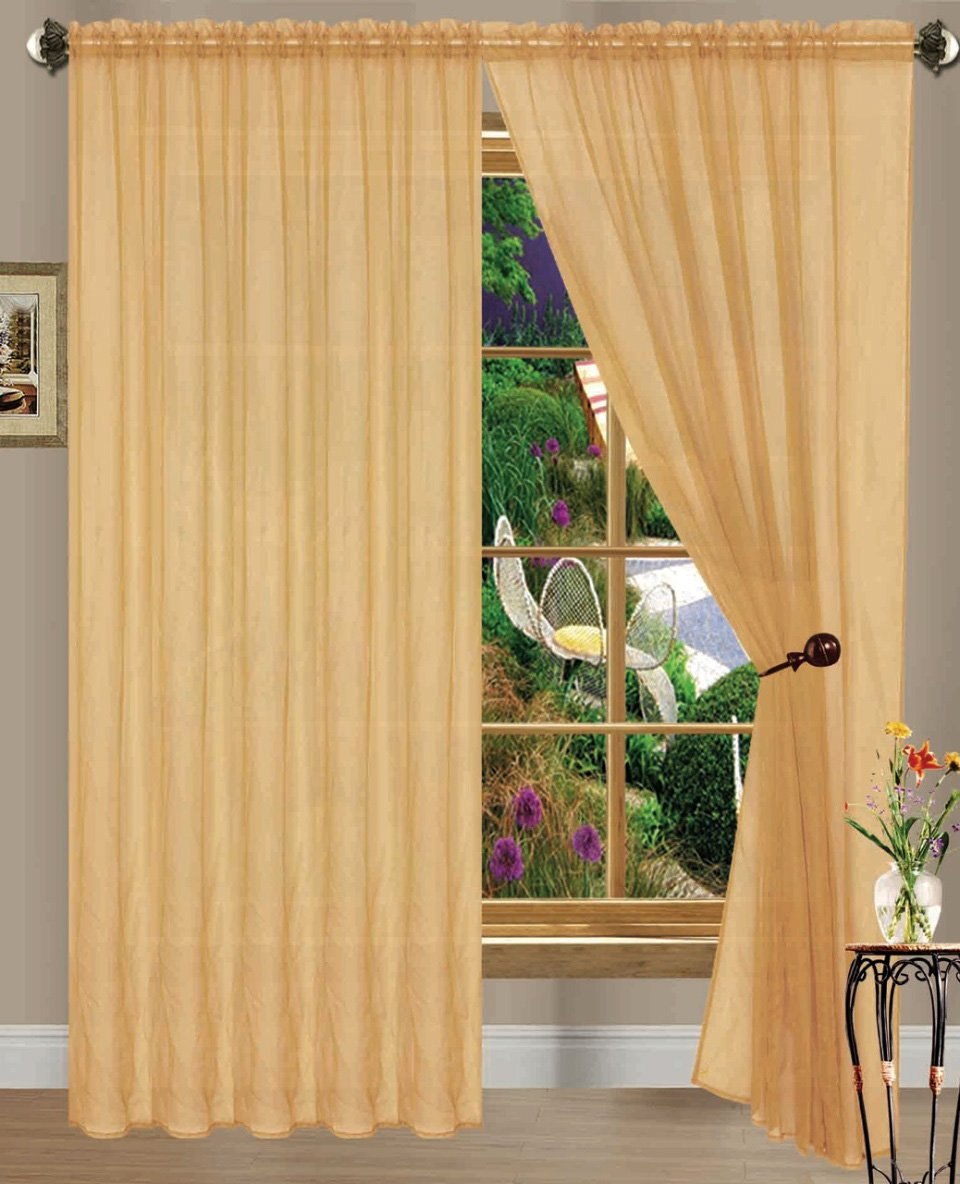 holly x sheer panels top treatment faux home kashi collection dp gold kitchen grommet window curtain curtains silk com amazon with