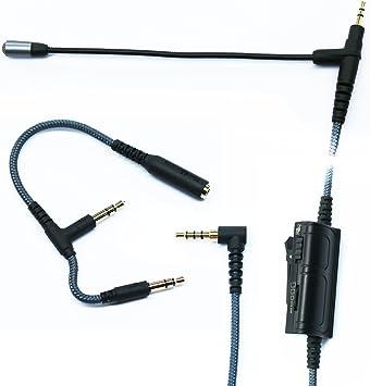 Adaptador de cable de audio con micrófono para juegos, PS4, XBOX ...