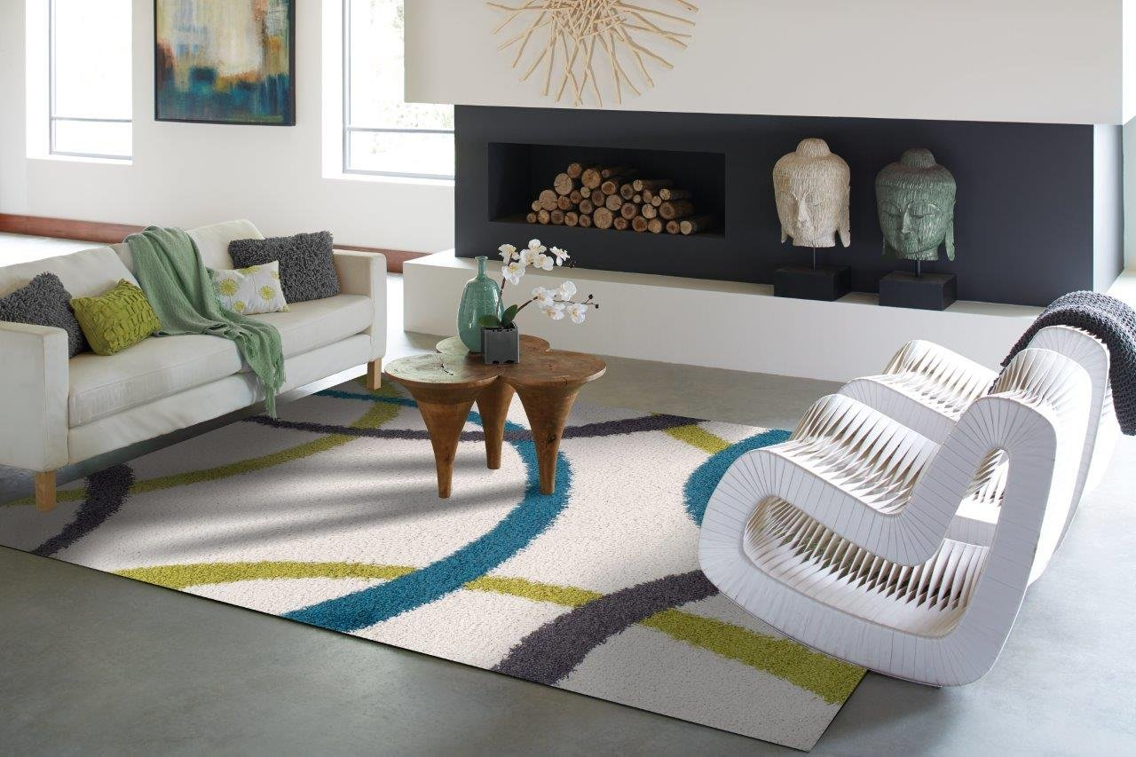 Amazon.com: Modern White Shag Rug For Bedroom Washable Bathroom Kitchen Rugs  Blue Green Gray Shaggy Rugs 2x4 Greens 2x3 Small Shag Rugs Bedroom Foyer  Rugs: ...