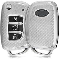 kwmobile bilnyckelskydd kompatibelt med Hyundai 3 knappars viknyckel – skydd med design – kolsilver