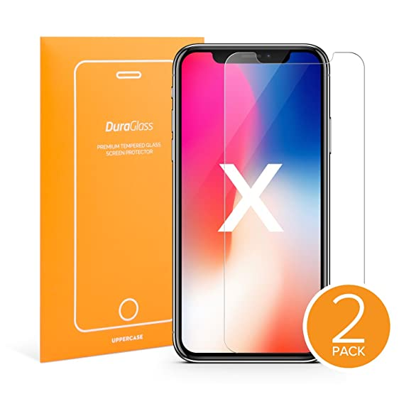 separation shoes 9ba20 bf662 UPPERCASE DuraGlass Premium Tempered Glass Screen Protector 2 Pack (iPhone  X)