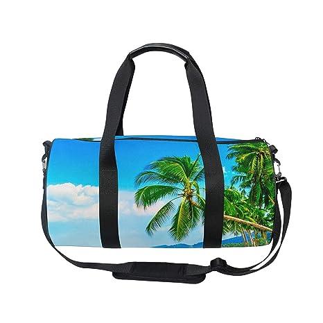 72a437262d69 Amazon.com : OuLian Duffel Bag Tropical Hawaiian Beach Women Garment ...