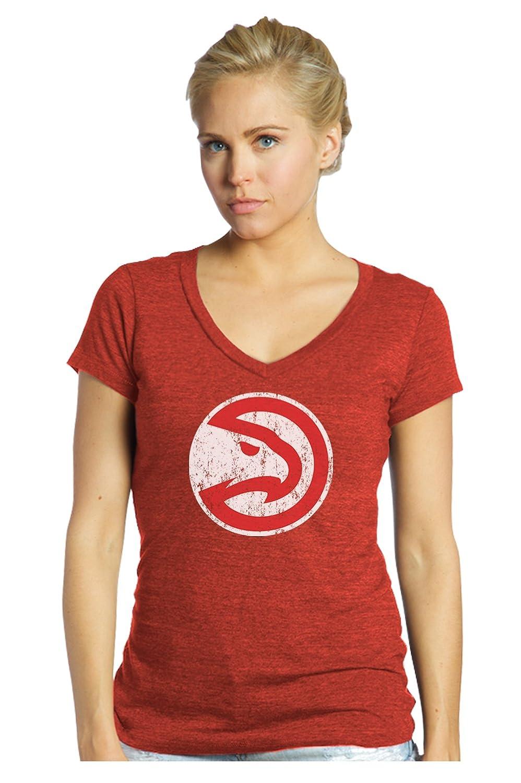 Large Red NBA Atlanta Hawks Womens Premier Triblend Modest V-Neck Tee