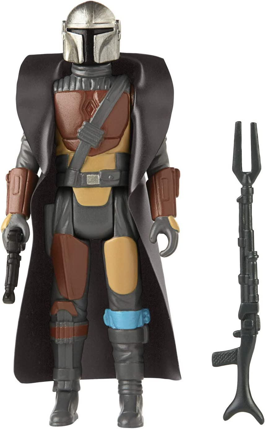 Amazon Com Star Wars Retro Collection The Mandalorian Toy 3 75 Inch Scale Collectible Action Figure With Accessories Toys For Kids Ages 4 And Up Toys Games