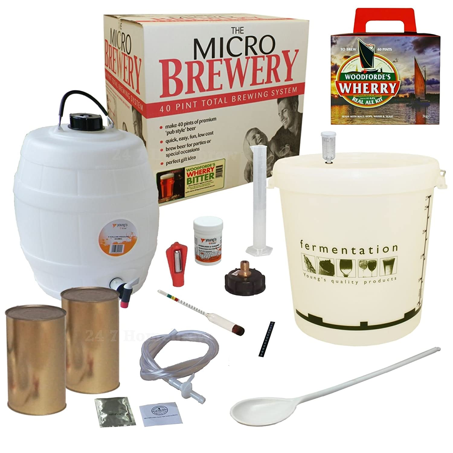 MICRO BREWERY 40 PINT BEER MAKING KIT HOME BREW BITTER Amazonco
