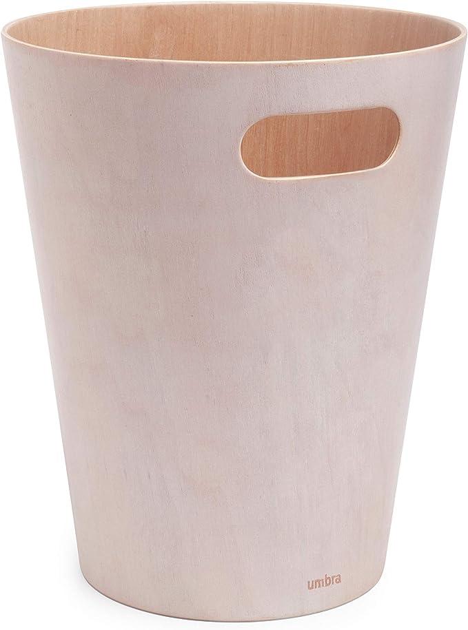 Ufficio Bagno ECC Cestino Spazzatura Ideale per Cucina Cestino Ufficio dal Design Naturale e Moderno mDesign Cestino rifiuti in Cartone Naturale