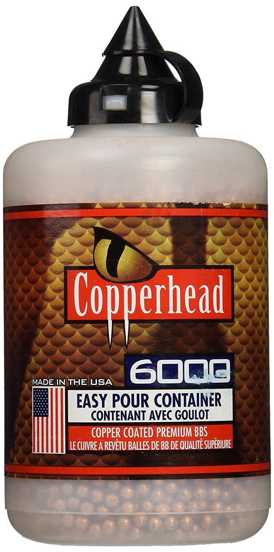 Crosman Copperhead 6000 Copper Coated BBs Cal. 4.5mm in a Bottle (2 bottles)