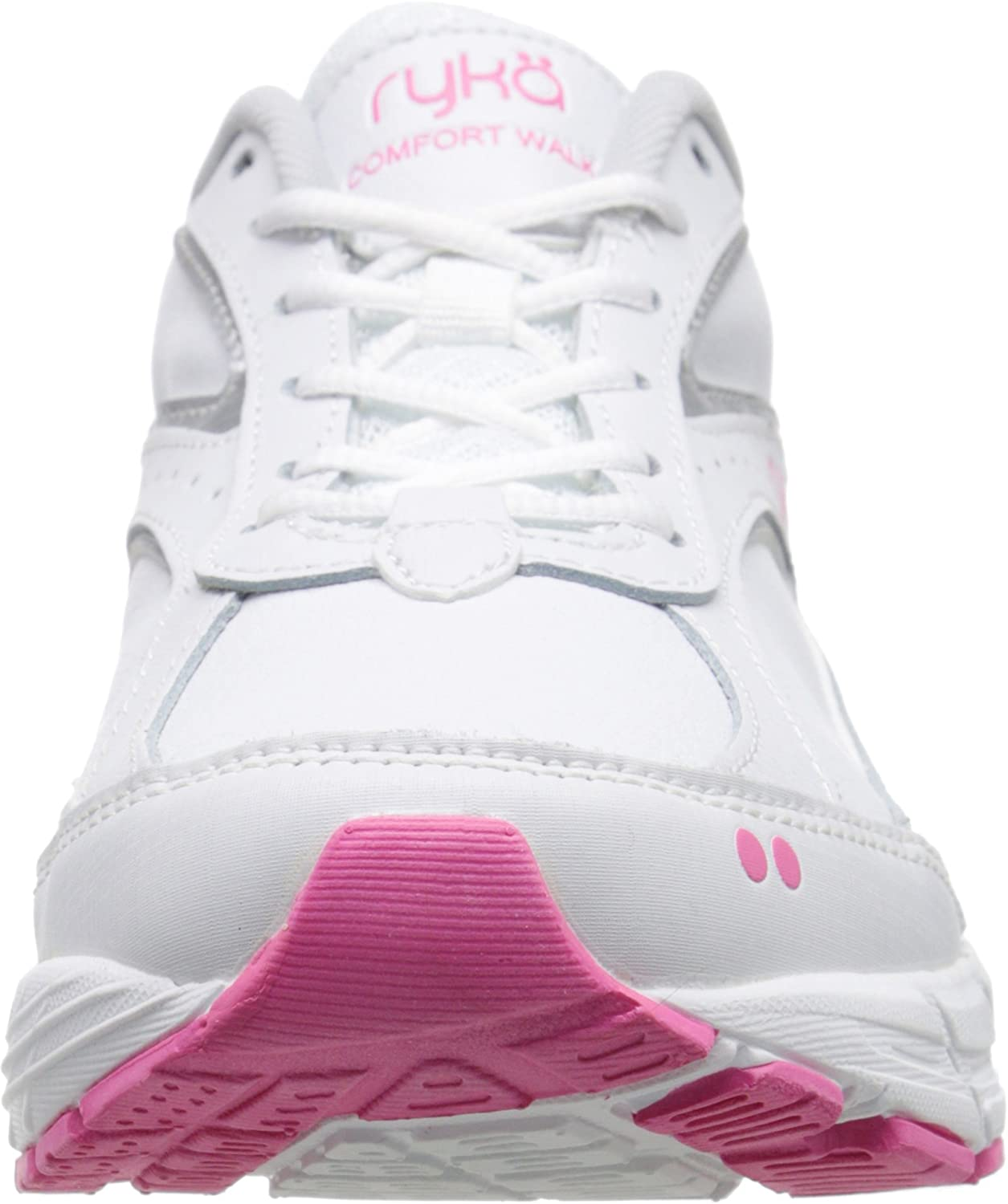 RYKA Womens Mens Comfort Walk Leather-W Comfort Walk Leather-w White Chrome Silver Hot Pink