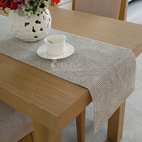 [modern],luxurious,full Diamond Table Flag/shine, Metal Table Runner