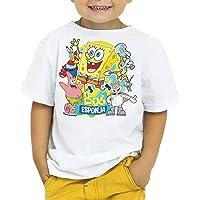 Camiseta Niño - Unisex Dibujos Animación Bob Esponja y Amigos