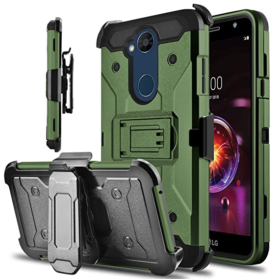 pretty nice 5cefb c4f67 lovpec LG X Power 3 Case, LG X Power 2 Case, Kickstand Heavy Duty  Protection Swivel Belt Clip Holster Protective Phone Case Cover for LG X  Charge/LG ...